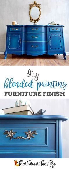 DIY Blending Painting Furniture Finish by That Sweet Tea Life