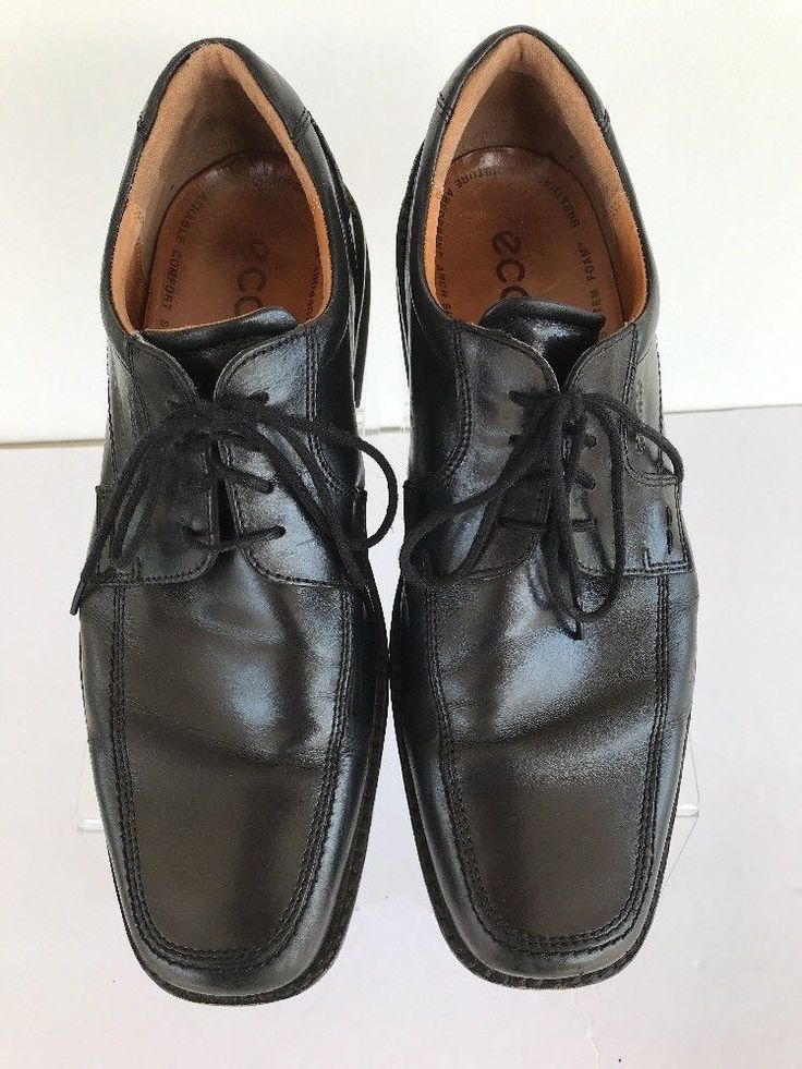 Ecco Dress Oxford Shoes Black Size 46 US 12 Leather Comfort Foam Arch  Support