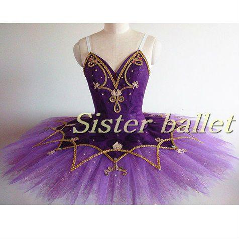 Roxo tutus de balé profissional das mulheres, trajes de balé o lago dos cisnes, a bela adormecida ballet tutu, tutu de bailarina panqueca tutu saia(China (Mainland))