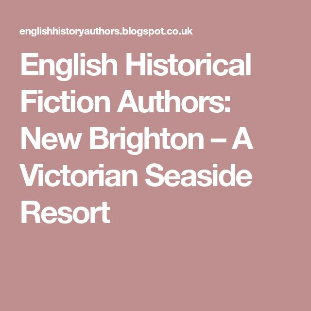 English Historical Fiction Authors: New Brighton – A Victorian Seaside Resort