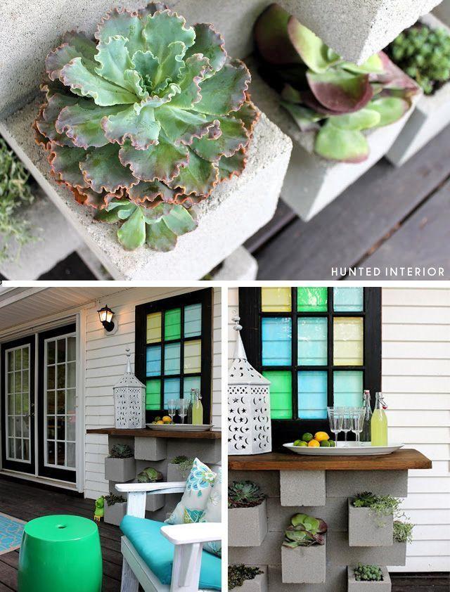 M s de 1000 ideas sobre mesa de concreto en pinterest for Bloques de cemento para jardin