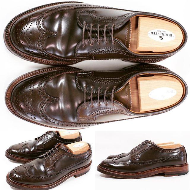 2017/10/27 18:27:01 shoesaholic1 ALDEN CIGAR CORDOVAN LONG WING. * レアカラーの中でも履きやすいカラーのシガーロングウィングが入荷しています😁 * 状態も使用感少なめのため、これからエイジングを楽しめると思います😚 * ITEM ID : 422 * #ALDEN #cordovan  #コードバン  #シューホリック #shoes #Mensshoes #shoepolish #boots  #Mensfashion #bespoke #tailar #stylish #fashiongram #instastyle #lookbook #luxury #gentleman #styleforum #ootd #高級靴 #靴磨き #足元くら部 #足元倶楽部  #高級 #オールデン #パラブーツ #ジョンロブ #エドワードグリーン  #クロケットアンドジョーンズ
