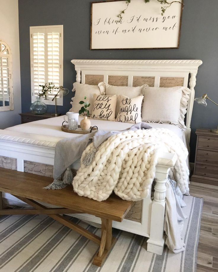 43 Gorgeous Farmhouse Bedroom Decorating Ideas Remodel Bedroom