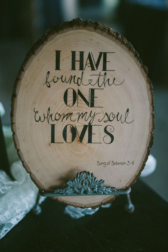 Custom Wood Burning of Song of Solomon 3:4 for by PaperMetalTimber