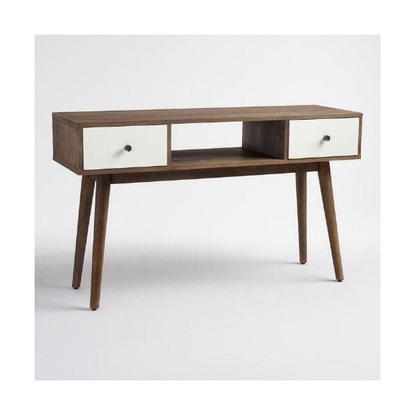 cost plus world market wood and white lacquer media stand 300 liked on