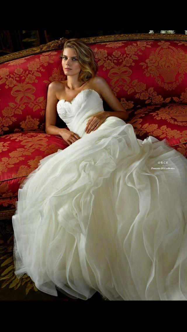Vestido novia escote Palabra de honor corazón. Promovías 2014 Palabra de www.palmiracompilar.com #homenajeatuangel