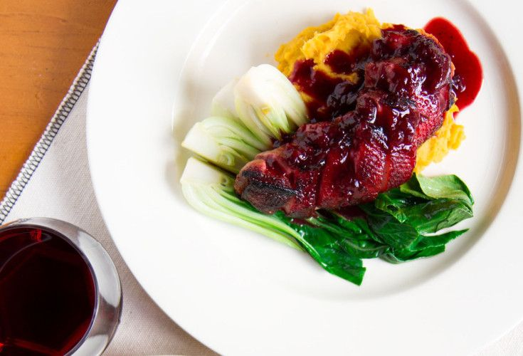 Duck with Kumara, Bok Choy and Plum Jus | Nadia Lim