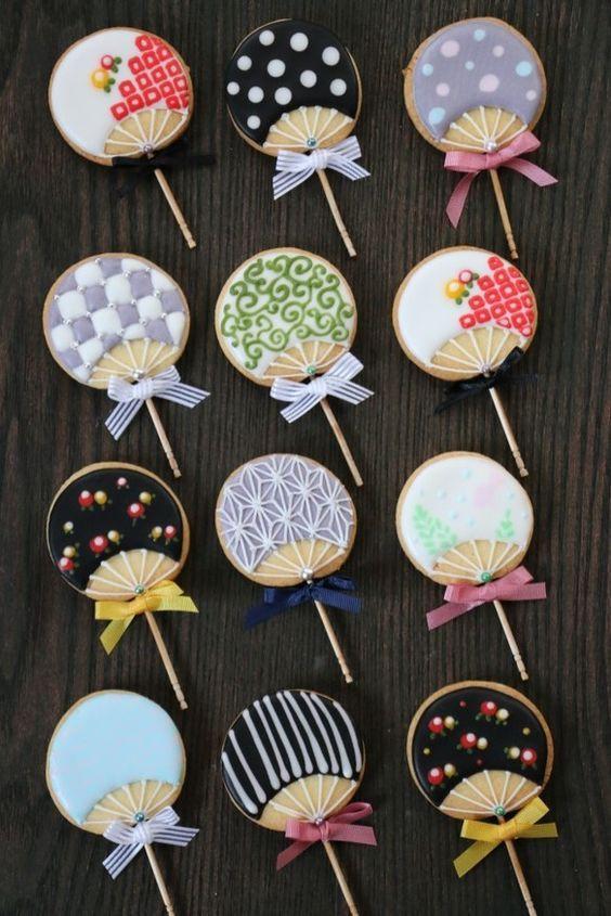 期間限定プチギフト 残暑見舞 ミニうちわアイシングクッキー(mini uchiwa icing cookie)|クッキー|emBellir|ハンドメイド通販・販売のCreema