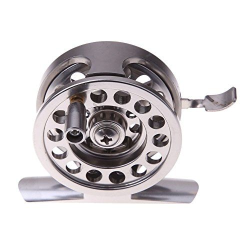 Comprar carrete de mosca Carretes de pesca de bobina de metal redondo rodamientos de ruedas de aleación de aluminio de la mosca de la pesca