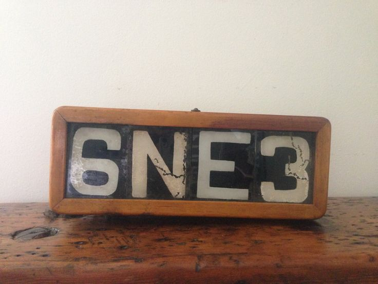 Vintage Wood Transit Route Number Light Box With Numbers by LuLuBellesAntiques on Etsy