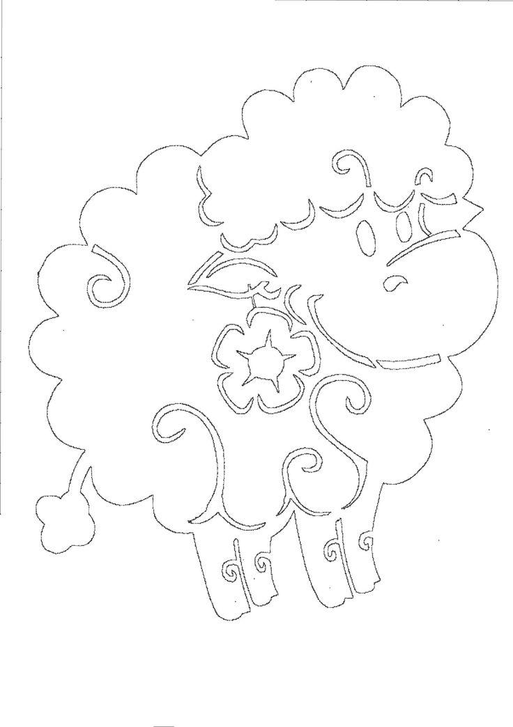 Вытынанки овечки | Вытынанка