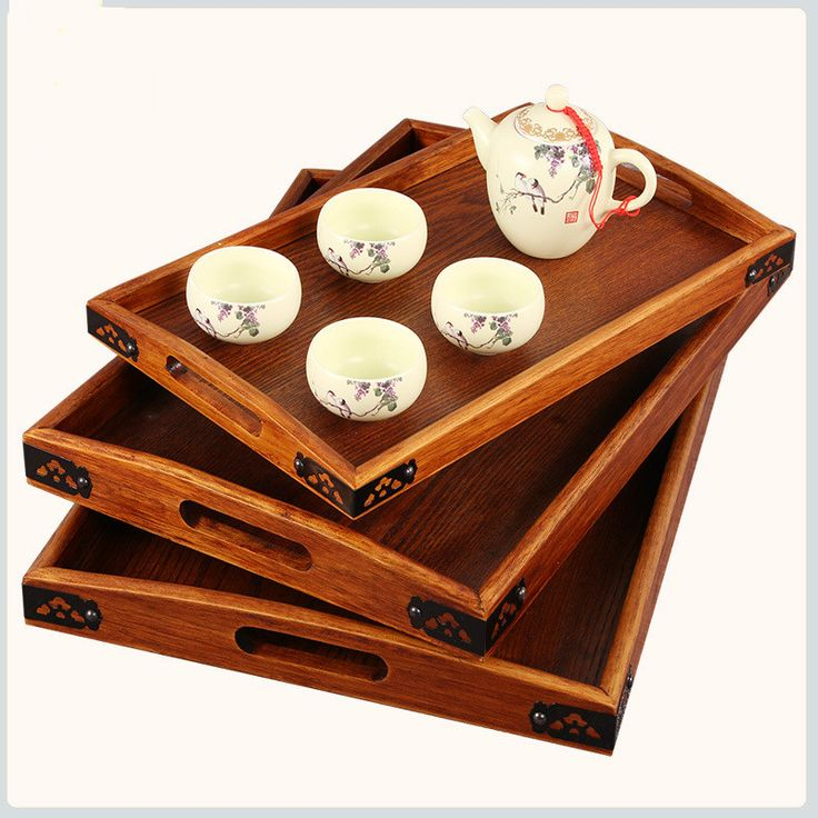 >> Click to Buy << Wooden pallet Iron angle tea tray The whole wood splice rectangular tray high-grade hotel Home Furnishing daily fruit tableware  #Affiliate