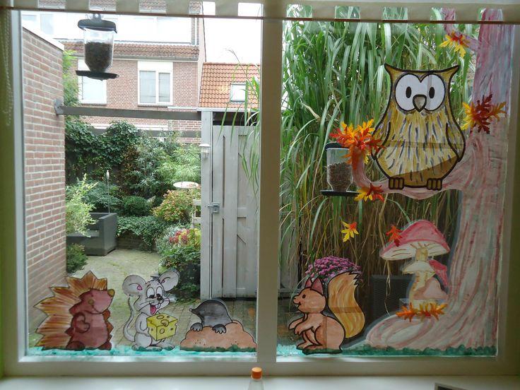 Leuke decoratie voor het raam elegant herfst decoratie for Decoratie raam
