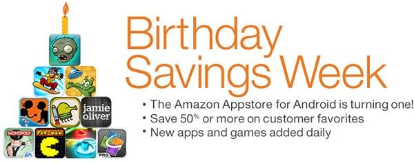 Amazon Appstore for Android celebrates a year of life, deals for a week