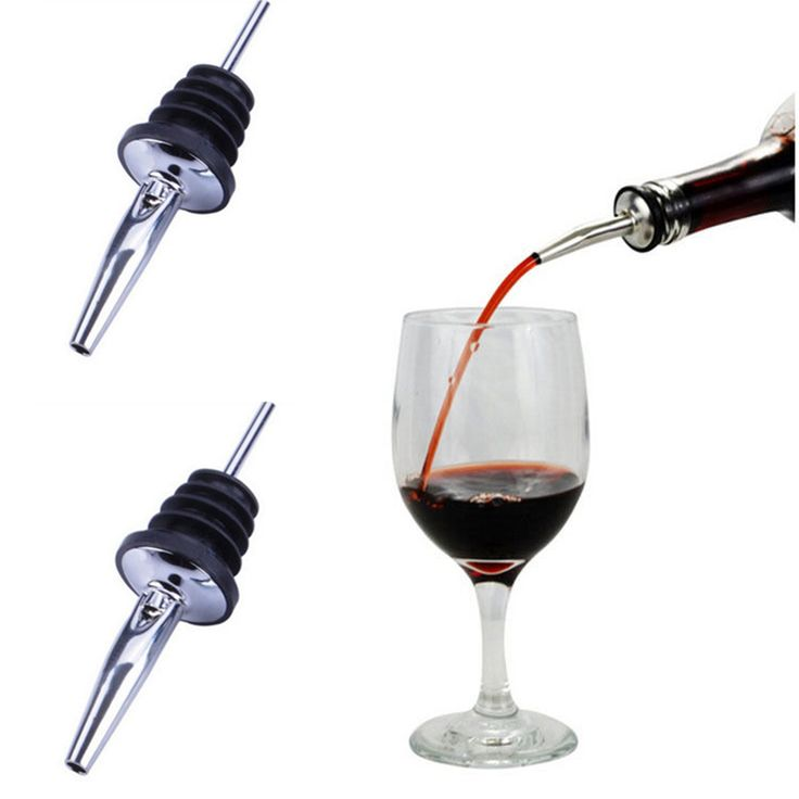 1Pc Stainless Steel Liquor Pourer Flow Wine Bottle Pour Spout Stoppers Home Garden Free Shipping +B A1-15