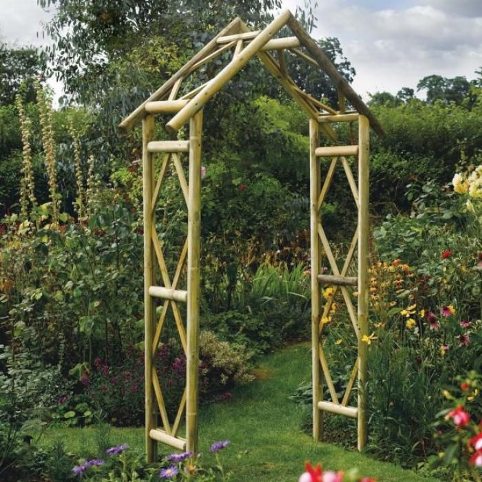 Awesome Harmonising Garden Archway Design Ideas Garden Archway Garden Arches Rustic Gardens