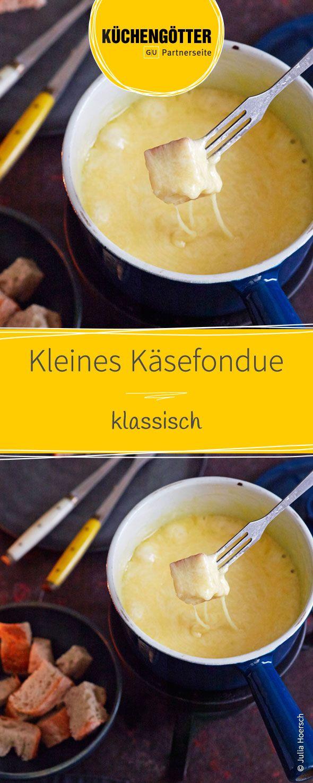 Rezept für kleines klassisches Käsefondue