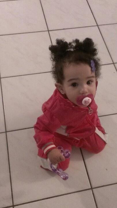Biracial Baby Girl Curly Hair #biracial #Athena my b...