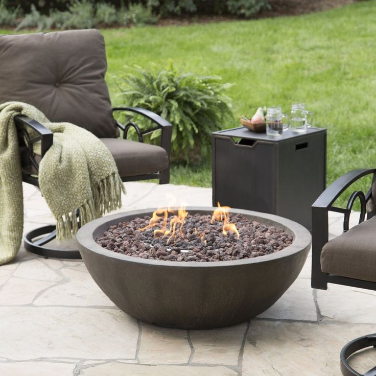 Red Ember Tucson 36 in. Gas Fire Bowl with Free Cover - $438