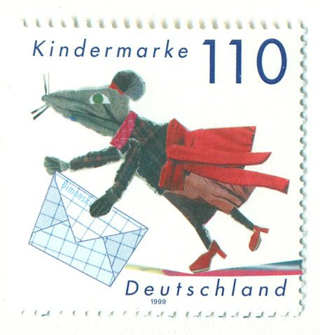 Germany Stamp, Mouse, 1999