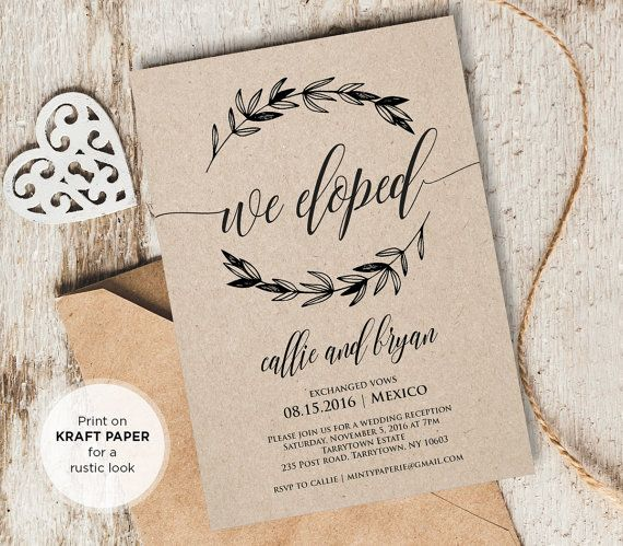 25+ best Elopement reception ideas on Pinterest | Elopement party ...