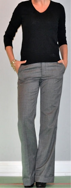 74 best images about outfits grey pants on pinterest for Gray dress shirt black pants