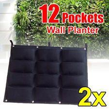 2x 12 POCKET PLANTER OUTDOOR VERTICAL GARDEN HANGING -GREAT FOR HERBS. 80cm*60cm