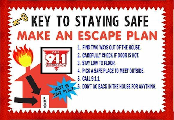 32 best national fire safety month images on pinterest for How to make a home fire escape plan