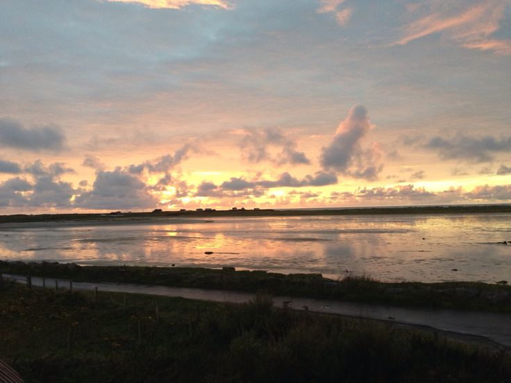 Sunset on South Uist Outer Hebrides the colours inspire our Celtic jewellery designs www.hebrideanjewellery.co.uk