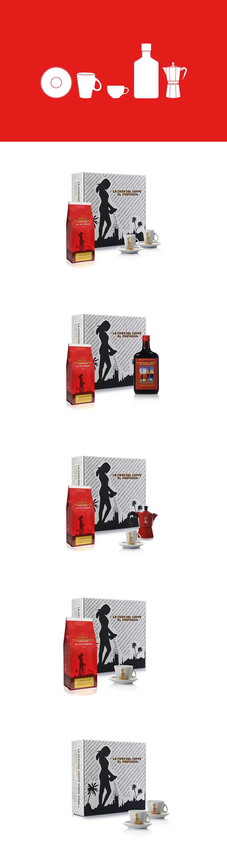 Progettazione ed ideazione delle confezioni regalo della torrefazione Antigua Tazza D'oro e delle fustelle personalizzate. #packaging #gift #edition