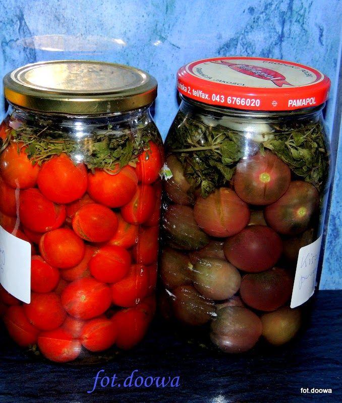 Moje Małe Czarowanie: Kiszone pomidory koktajlowe