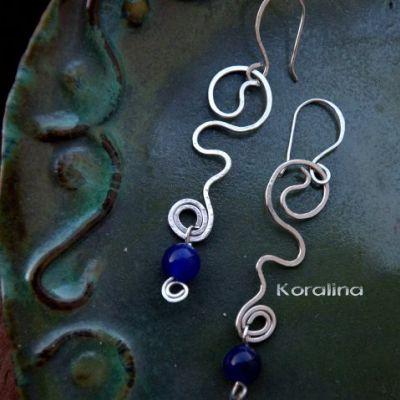 my lovely steel gemstole earings by helenee