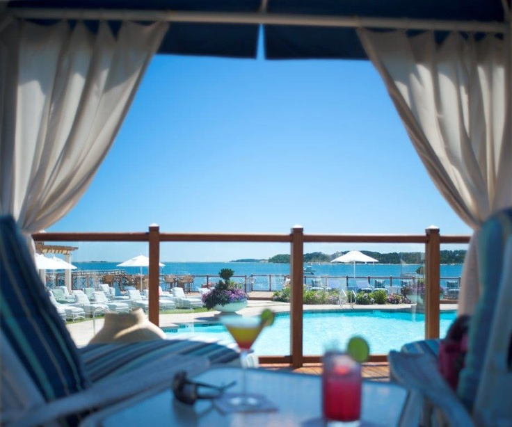 Groupon Cape Cod Getaway Part - 35: Cocktails Overlooking Pleasant Bay And The Pool At Wequassett Inn, Orleans, Cape  Cod, MA