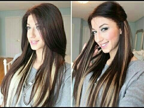 I want peekaboo highlights like this!!!