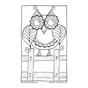 owl page to color download this charming owl coloring page he can be printed