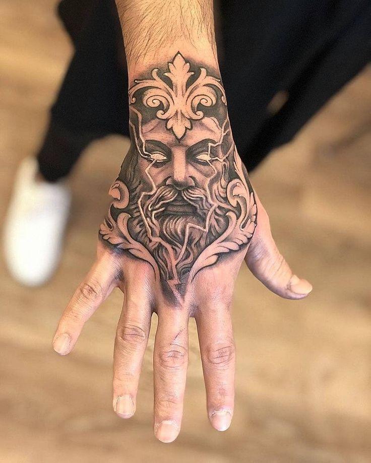 Skull Sleeve Tattoos, Body Art Tattoos, Eagle Tattoos, Tribal Tattoos, Tatuajes Tattoos, Tatoos, Mythology Tattoos, Hand Tattoos For Guys, Custom Tattoo