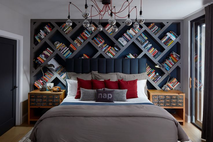 Inspired-Interiors-Bachelor-Pad-4...this is so awesome! Not sure whether to put it with bedrooms or libraries....so maybe both?