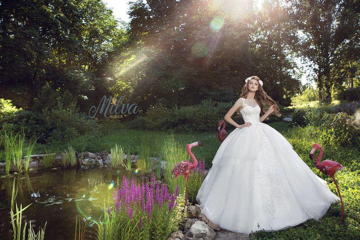Magic fairy garden Milva. Свадебные платья Milva/ Волшебный сказочный сад Milva. Wedding dress 2016 Milva.