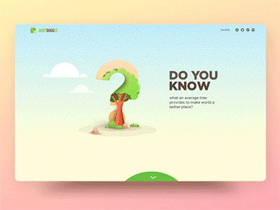 This is an in-progress project for an non-profit organization. It's a one page site that is aimed to help people understand how important trees are to our well-being before it's too late. (PLEASE W...