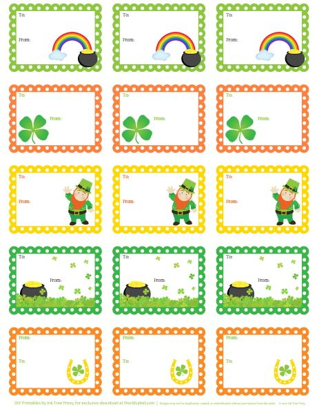 Free St. Patrick's Day PrintablesGround Hog, Lunches Note, Fat, 775Blank2 Png 460 589, Care Packaging, Patricks, Printables Tags, Free Printables Labels, Irish Them Care