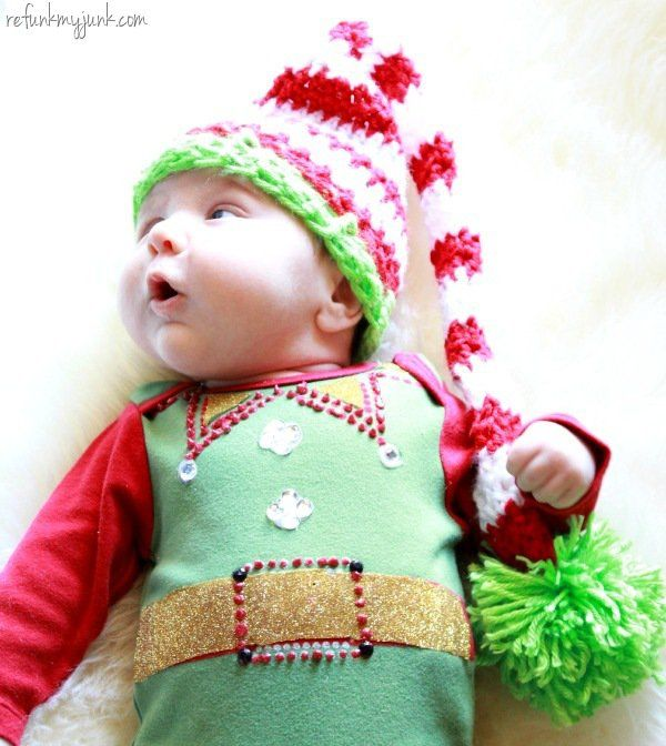 DIY Ugly Christmas Sweater Baby Edition - 13 DIY Ugly Christmas Sweaters | Perfect Ugly & Funny Handmade Costumes by Pioneer Settler at http://pioneersettler.com/diy-ugly-christmas-sweaters/