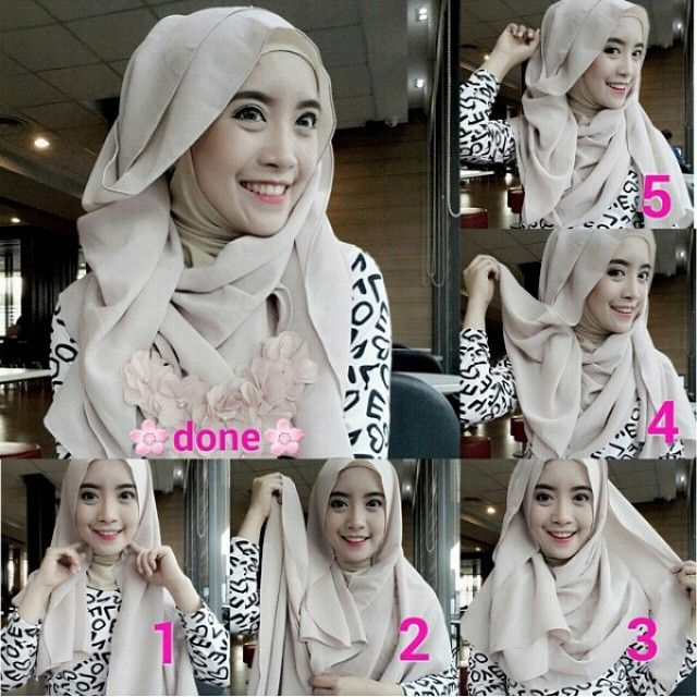 Cara Pakai Hijab Simple