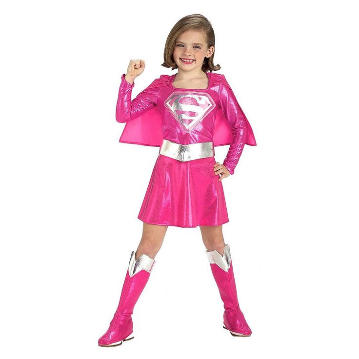 Kids Pink Super Girl Costume, Size: 2-4