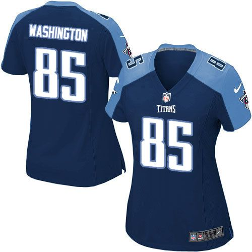 Women Nike Tennessee Titans #85 Nate Washington Limited Navy Blue Alternate NFL Jersey Sale