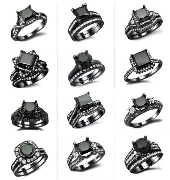 List of pretty & affordable black diamond engagement rings http://www.charleskoll.com/product-category/wedding-bands/