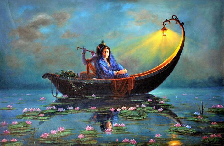 Buy Royal Raas Night Handmade Painting by Hariom Singh. Code:ART_1246_7369 - Paintings for Sale online in India.