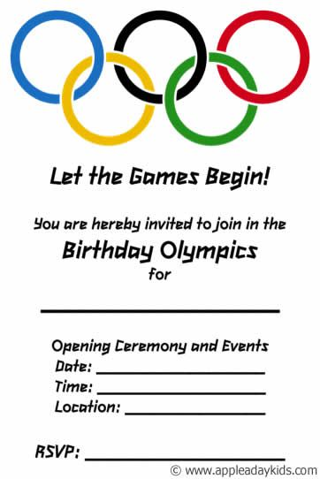 Olympic Themed Birthday Party