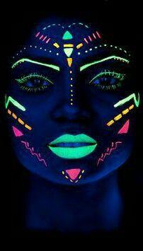 Maquillage De Fete, Maquillage Enfant, Maquillage Artistique, Maquillage  Halloween, Peinture Luminescente, Danse Mariage, Salles De Danse, Référence  Visage,