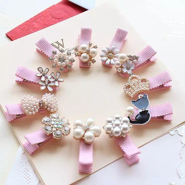 Creati corona perlas bebé horquillas accesorios para el cabello Bowknot princes…