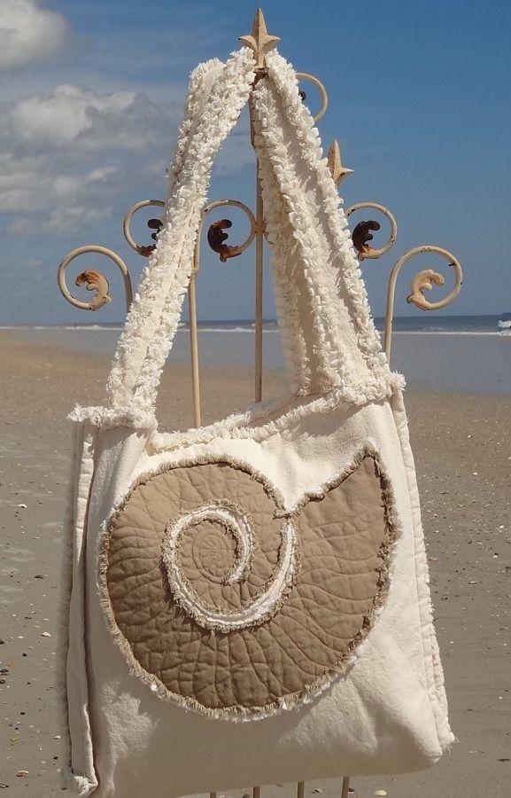 Sea Beach Bag - Nautilus Khaki on Ivory